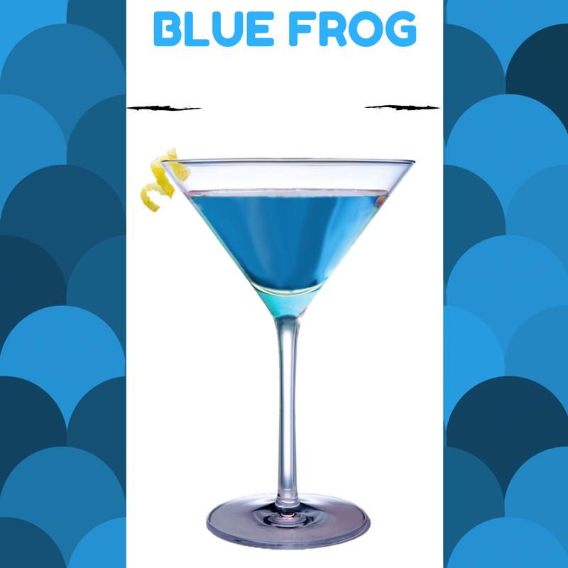 Kako se pravi koktel plava zaba - blue frog